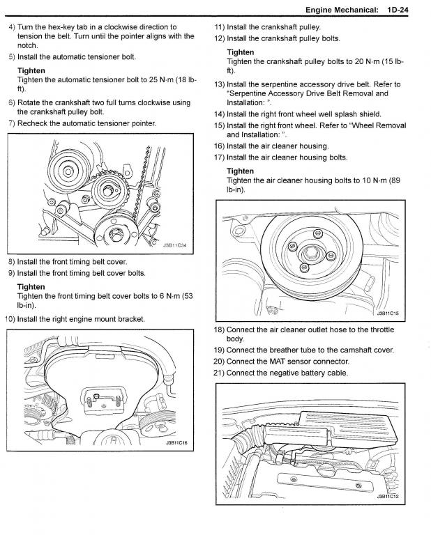 D Changing Timing Belt Looking Some Help Suzuki Forenza Timing Belt Page on 2007 Suzuki Xl7 Timing Chain Diagram