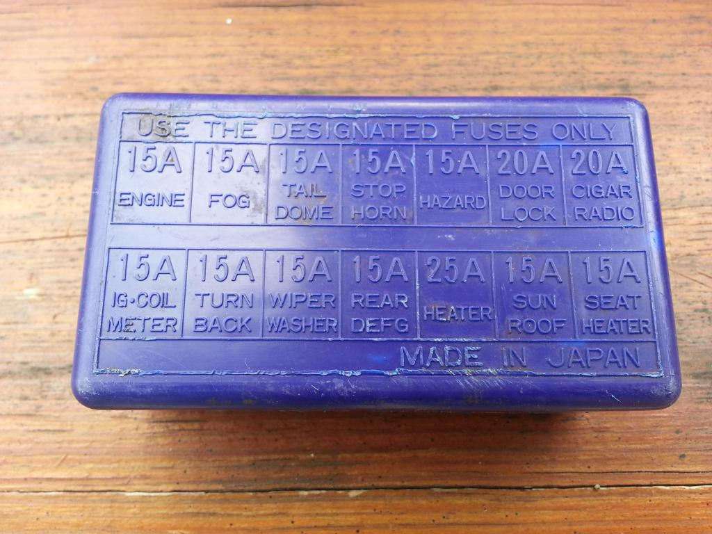 anyone recognize this fuse box cover? | suzuki forums  suzuki forums