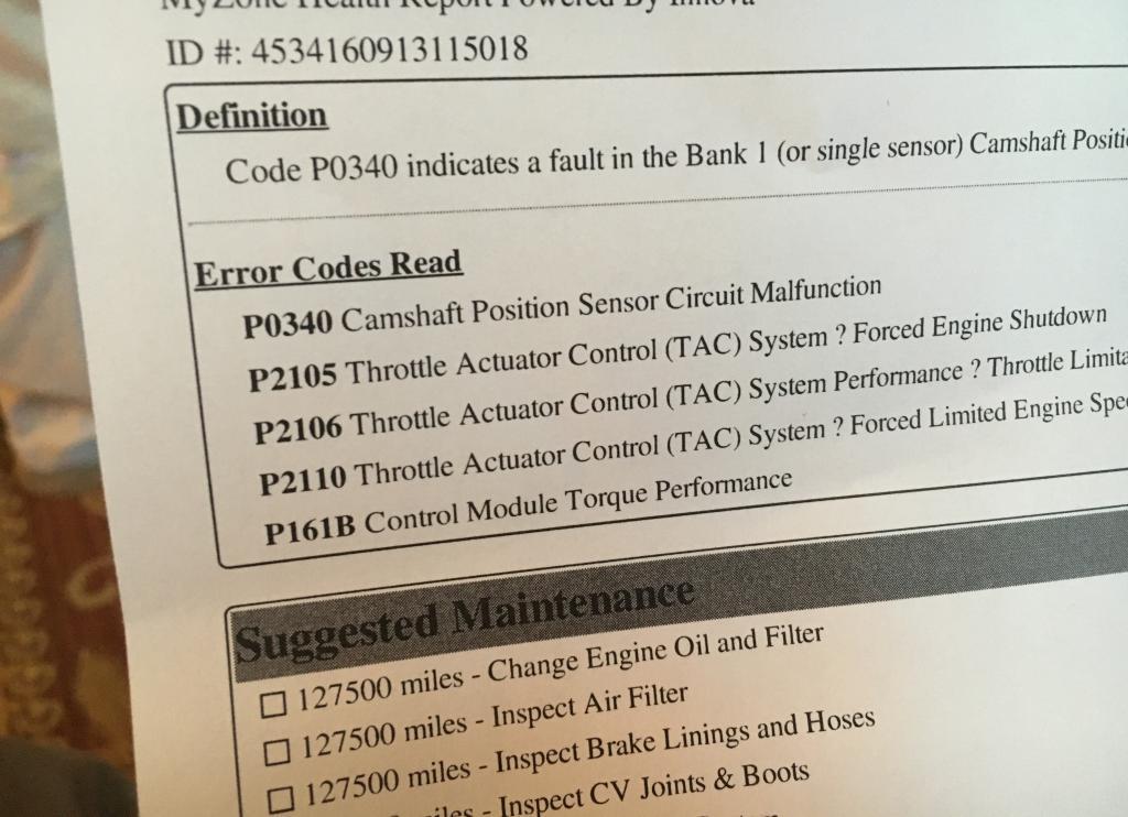 Chevy Brake Codes