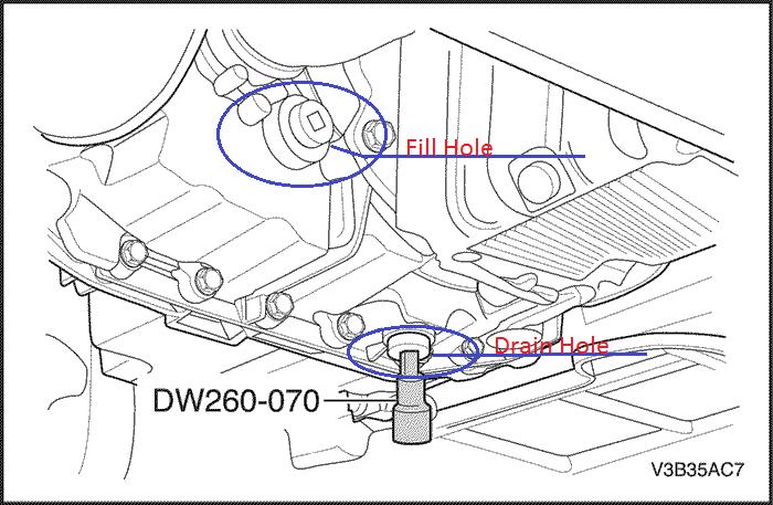 2001 silverado transmission drain plug