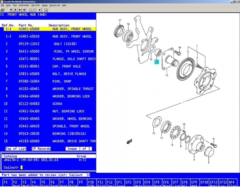 2004 Xl7 Bearing Inside Spindle For Axle Shaft