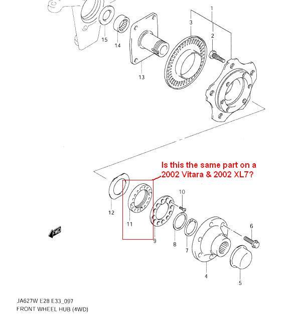 xl 7 front spindle nut socket