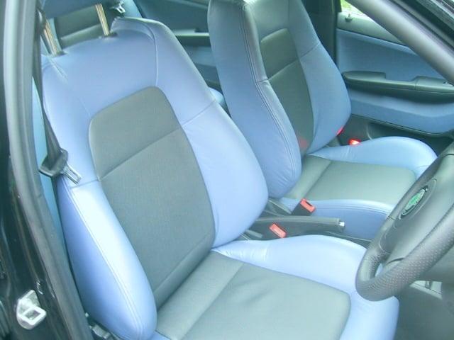 2 X CAR SEAT COVERS front seats fit Suzuki Swift grey//blue