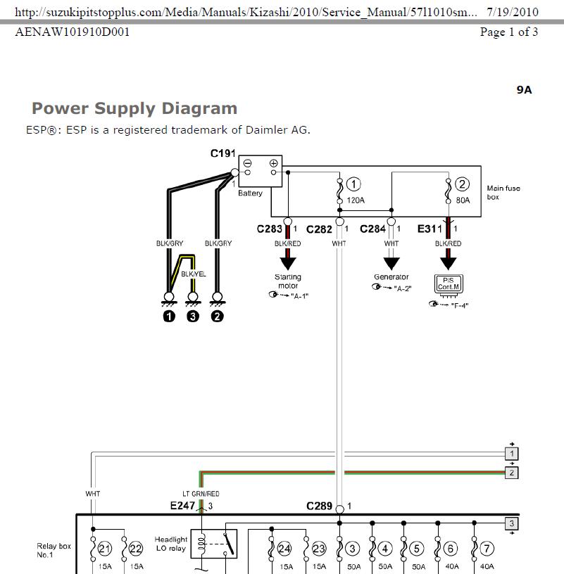 Kizashi Positive Battery Terminal Fuse Suzuki Forums